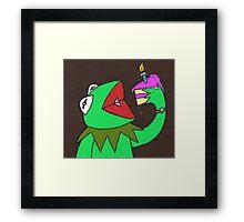 Kermit cake Framed Print