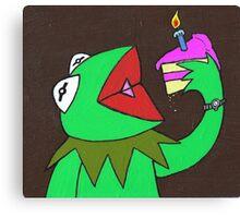 Kermit cake Canvas Print