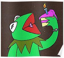 Kermit cake Poster