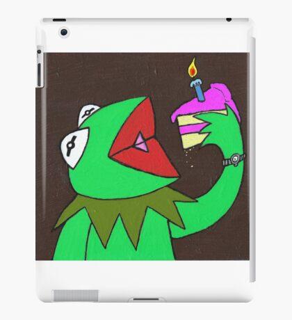 Kermit cake iPad Case/Skin