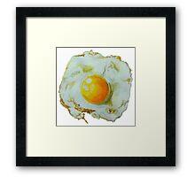 fried egg watercolor Framed Print