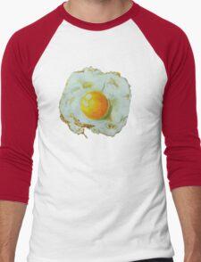 fried egg watercolor Men's Baseball ¾ T-Shirt