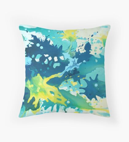 Abstract Splash Painting Throw Pillow