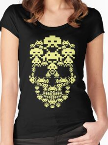 ARCADE SKULL Women's Fitted Scoop T-Shirt