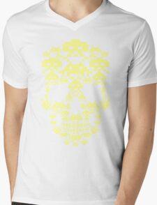 ARCADE SKULL Mens V-Neck T-Shirt