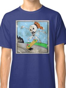 Retro Skeleton Kickflip! Classic T-Shirt