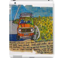 jeep by a field iPad Case/Skin