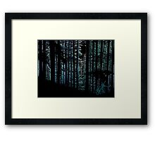 Mountain Trees Series Framed Print