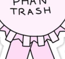 #1 phan trash Sticker