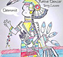 Native Dancer Cartoon by Kyobe