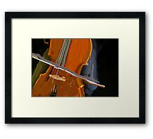CONTEMPORARY CELLO DESIGN Framed Print