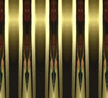 Curved Golden Bars With Patterned Art Deco Borders Sticker
