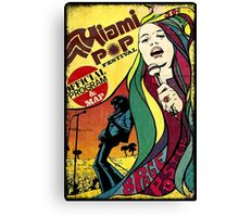 MIAMI POP FESTIVAL CLASSIC POSTER Canvas Print