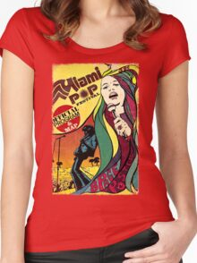 MIAMI POP FESTIVAL CLASSIC POSTER Women's Fitted Scoop T-Shirt