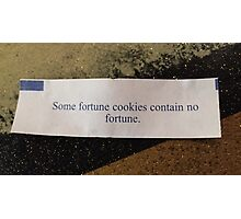 Some fortune cookies Photographic Print