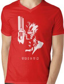 Trigun White Mens V-Neck T-Shirt