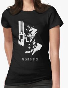 Trigun White Womens Fitted T-Shirt