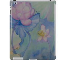 Lotus. Left part for diptych design iPad Case/Skin