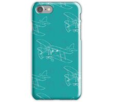 Pattern with hand drawn airplanes iPhone Case/Skin