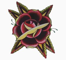 TRADITIONAL TATTOO FLASH ROSE Kids Tee