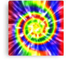 Tie Dye - Red, Blue, Yellow - primary colors Canvas Print