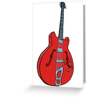 Electro-acoustic bass guitar Greeting Card