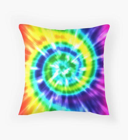 Tie Dye Rainbow 2 Throw Pillow