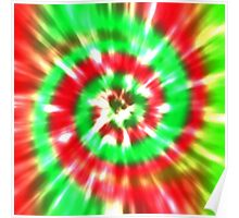 Tie Dye - Red, Pink, Lime Green Poster