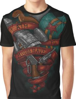 I Aim To Misbehave! Graphic T-Shirt