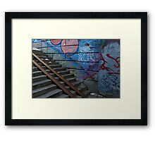 underground  stairs up Framed Print