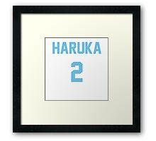 Free! Jerseys (Haruka Nanase) Framed Print