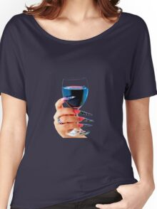 Glass of red wine Women's Relaxed Fit T-Shirt