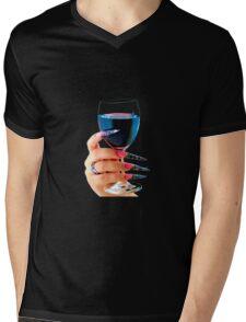 Glass of red wine Mens V-Neck T-Shirt