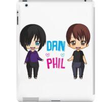 Dan and Phil  cute chibi style <3 iPad Case/Skin