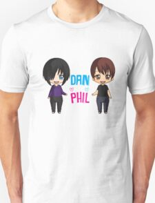 Dan and Phil  cute chibi style <3 Unisex T-Shirt