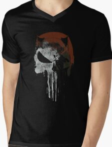 Punished By The Law Mens V-Neck T-Shirt