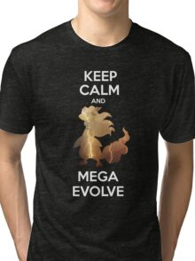 Keep Calm and MegaEvolve! AMPHAROS! Tri-blend T-Shirt
