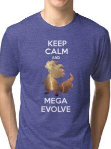 Keep Calm and MegaEvolve! AMPHAROS! Tri-blend T-Shirt