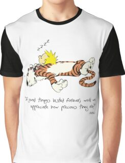 Calvin And Hobbes Quote Graphic T-Shirt
