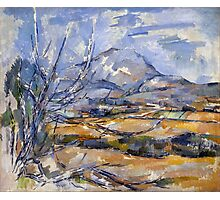 1890 - Paul Cezanne - Montagne Saint-Victoire Photographic Print