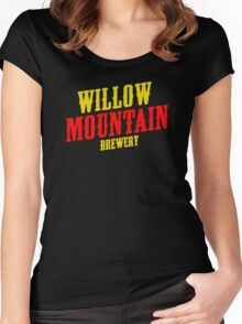 Willow mountain brewery Women's Fitted Scoop T-Shirt