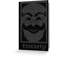 mr._robot_-_f.society.dat Greeting Card