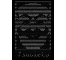 mr._robot_-_f.society.dat Photographic Print