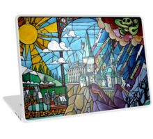 Hogwarts stained glass style Laptop Skin