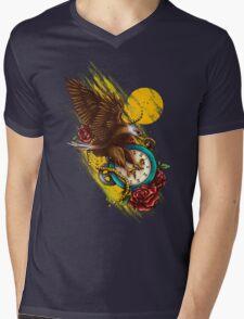 Time Flies Mens V-Neck T-Shirt
