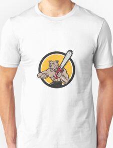 Canine Lumberjack Tree Surgeon Arborist Chainsaw Circle T-Shirt