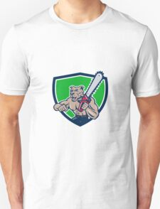 Mongrel Lumberjack Tree Surgeon Arborist Chainsaw Crest T-Shirt