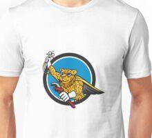 Refrigeration Mechanic Leopard Superhero Circle Cartoon Unisex T-Shirt