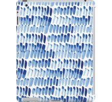 Shibori  blue indigo brush strokes iPad Case/Skin