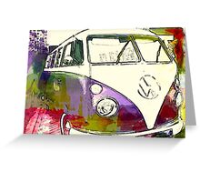 Colour splash hippie bus Greeting Card